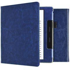iMoshion Étui de liseuse en cuir végan Amazon Kindle Oasis 3 - Bleu