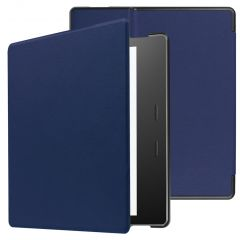 iMoshion Coque à rabat Slim Hard Amazon Kindle Oasis 3 - Bleu foncé