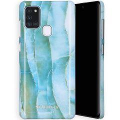 Selencia Coque Maya Fashion Samsung Galaxy A21s - Agate Blue