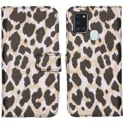 iMoshion Coque silicone design Galaxy A21s - Golden Leopard