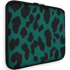 iMoshion Universele Design Sleeve 13 pouces - Green Leopard