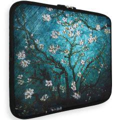 iMoshion Universele Design Sleeve 13 pouces - Tree White Flowers