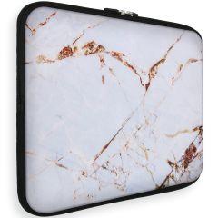 iMoshion Universele Design Sleeve 13 pouces - White Marble