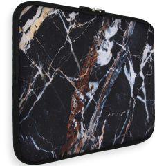 iMoshion Universele Design Sleeve 15 pouces - Black Marble