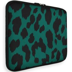 iMoshion Universele Design Sleeve 15 pouces - Green Leopard