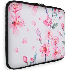 iMoshion Universele Design Sleeve 15 pouces - Blossom Watercolor White