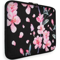 iMoshion Universele Design Sleeve 15 pouces -Blossom Watercolor Black