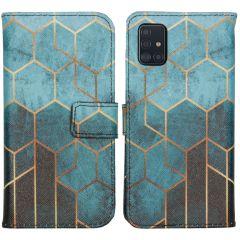 iMoshion Coque silicone design Samsung Galaxy A51 - Green Honeycomb