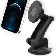 Accezz Support de téléphone MagSafe voiture - Tableau de bord / Parebrise - Noir