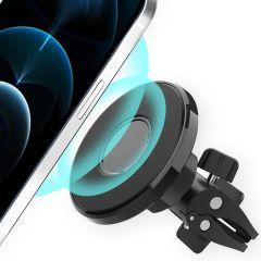 Accezz Support de téléphone MagSafe voiture - Grille d'aération - Noir