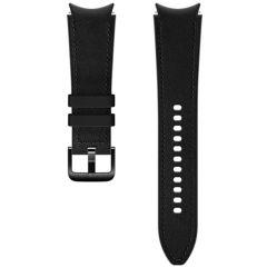 Samsung Bracelet Cuir Hybrid M/L Galaxy Watch / Watch 3 / Watch 4 / Active 2 / Classic 4 : 40-41-42-44mm - Noir
