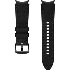 Samsung Bracelet Cuir Hybrid S/M Galaxy Watch / Watch 3 / Watch 4 / Active 2 / Classic 4 : 40-41-42-44mm - Noir