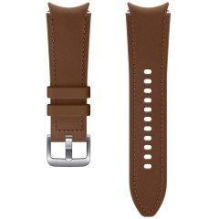 Samsung Bracelet Cuir Hybrid S/M Galaxy Watch / Watch 3 / Watch 4 / Active 2 / Classic 4 : 40-41-42-44mm - Brun