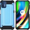 iMoshion Coque Rugged Xtreme Motorola Moto G9 Plus - Bleu clair
